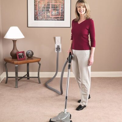 Women vacuuming